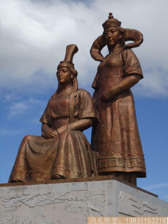 民族风情人物铜雕,大型铜雕